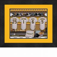 Pittsburgh Pirates Personalized Locker Room 13 x 16 Framed Photograph