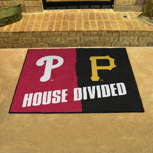 Pittsburgh Pirates/Philadelphia Phillies House Divided Mat