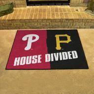 Pittsburgh Pirates/Philadelphia Phillies House Divided Mat