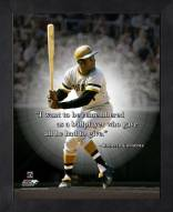 Pittsburgh Pirates Roberto Clemente Framed Pro Quote