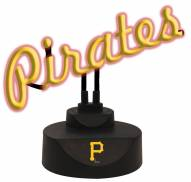 Pittsburgh Pirates Script Neon Desk Lamp