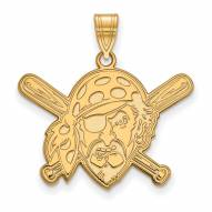 Pittsburgh Pirates Sterling Silver Gold Plated Large Pendant
