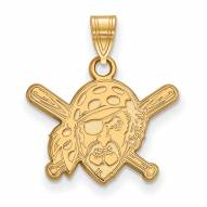 Pittsburgh Pirates Sterling Silver Gold Plated Small Pendant