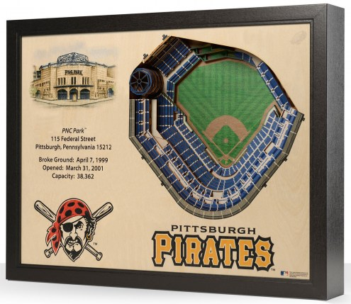 Pittsburgh Pirates 25-Layer StadiumViews 3D Wall Art