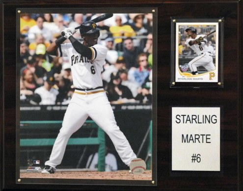 """Pittsburgh Pirates Starling Marte 12"""" x 15"""" Player Plaque"""