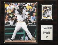 "Pittsburgh Pirates Starling Marte 12"" x 15"" Player Plaque"