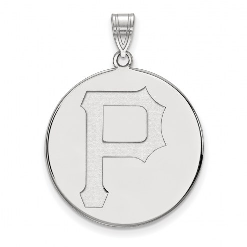 Pittsburgh Pirates Sterling Silver Extra Large Disc Pendant