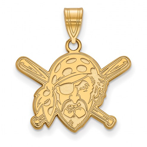 Pittsburgh Pirates Sterling Silver Gold Plated Medium Pendant