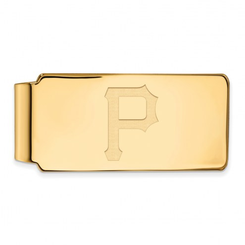 Pittsburgh Pirates Sterling Silver Gold Plated Money Clip