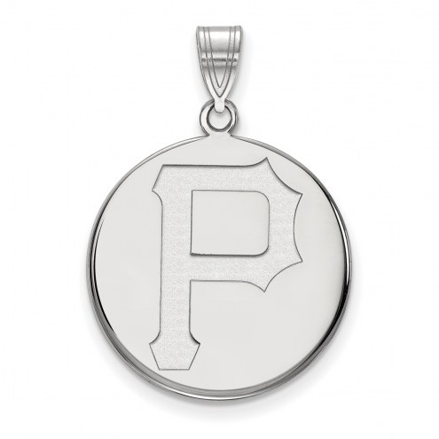 Pittsburgh Pirates Sterling Silver Large Disc Pendant