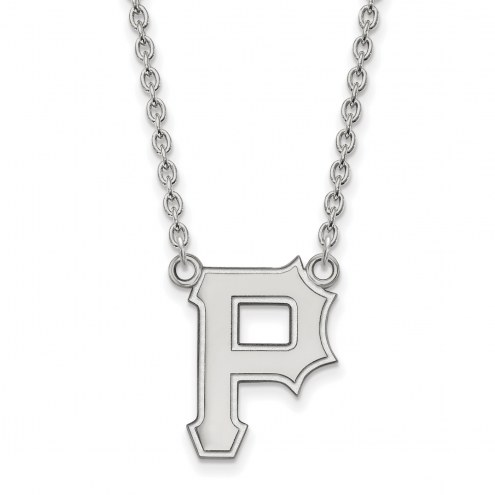 Pittsburgh Pirates Sterling Silver Large Pendant Necklace