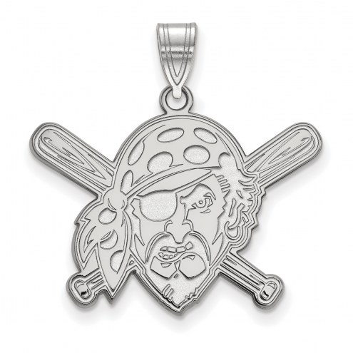Pittsburgh Pirates Sterling Silver Large Pendant