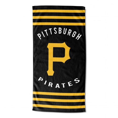 Pittsburgh Pirates Stripes Beach Towel