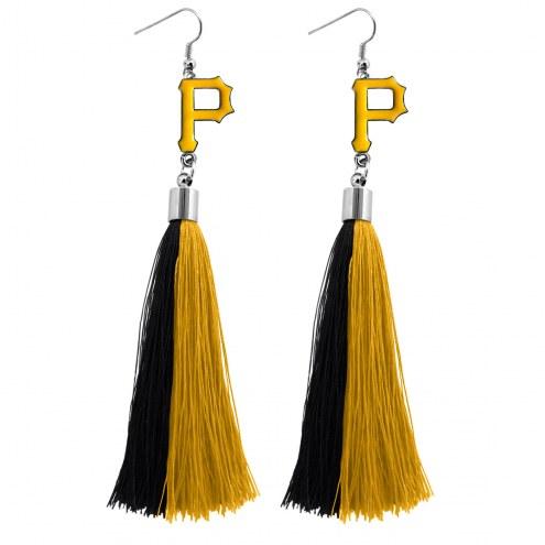 Pittsburgh Pirates Tassel Earrings