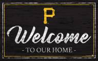 Pittsburgh Pirates Team Color Welcome Sign