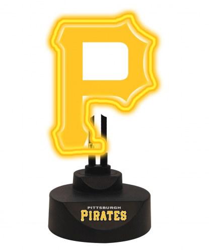 Pittsburgh Pirates Team Logo Neon Light