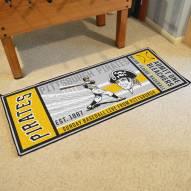 Pittsburgh Pirates Ticket Runner Rug