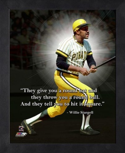 Pittsburgh Pirates Willie Stargell Framed Pro Quote