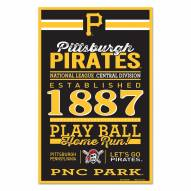 Pittsburgh Pirates Established Wood Sign