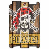 Pittsburgh Pirates Wood Fence Sign