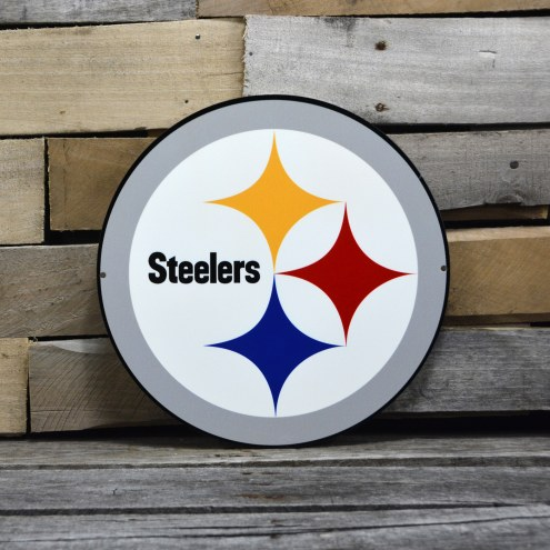 "Pittsburgh Steelers 12"" Steel Logo Sign"