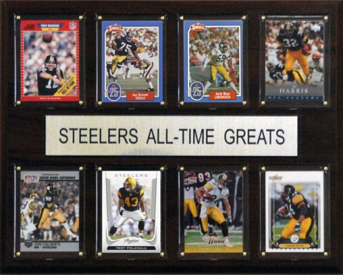"""Pittsburgh Steelers 12"""" x 15"""" All-Time Greats Plaque"""