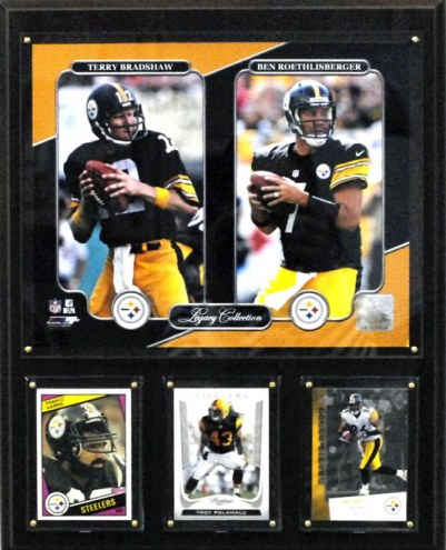 """Pittsburgh Steelers 12"""" x 15"""" Legacy Collection Plaque"""