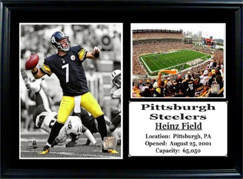 "Pittsburgh Steelers 12"" x 18"" Ben Roethlisberger Photo Stat Frame"