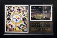 """Pittsburgh Steelers 12"""" x 18"""" Legends Photo Stat Frame"""