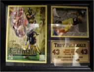 "Pittsburgh Steelers 12"" x 18"" Troy Polamalu Photo Stat Frame"