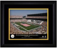 Pittsburgh Steelers 13 x 16 Personalized Framed Stadium Print