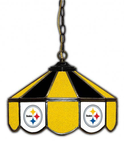 "Pittsburgh Steelers 14"" Glass Pub Lamp"