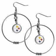"Pittsburgh Steelers 2"" Hoop Earrings"