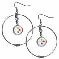 """Pittsburgh Steelers 2"""" Hoop Earrings"""