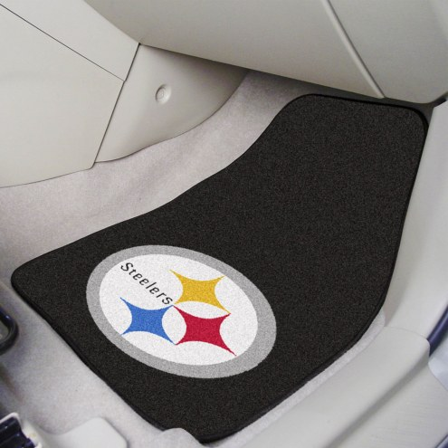 Pittsburgh Steelers 2-Piece Carpet Car Mats
