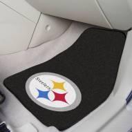 Pittsburgh Steelers 2-Piece Carpet Car Mats