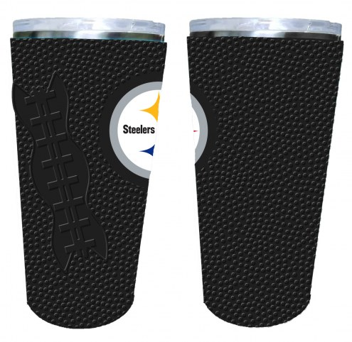 Pittsburgh Steelers 20 oz. Stainless Steel Tumbler with Silicone Wrap