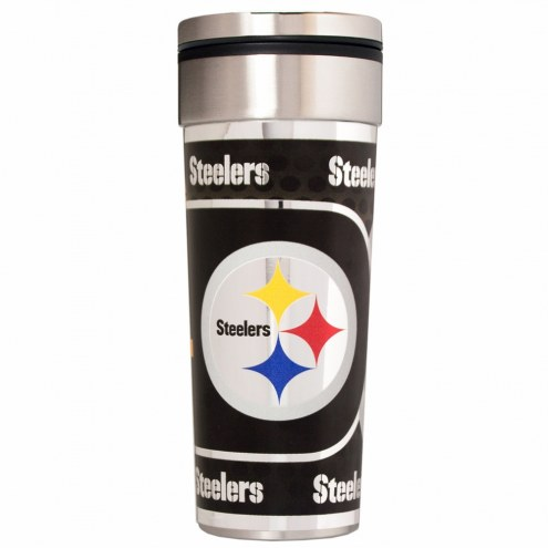 Pittsburgh Steelers 22 oz. Hi Def Travel Tumbler