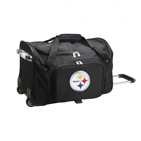 "Pittsburgh Steelers 22"" Rolling Duffle Bag"