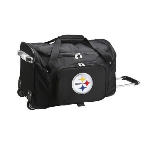 "Pittsburgh Steelers 22"" Rolling Duffle Bag"