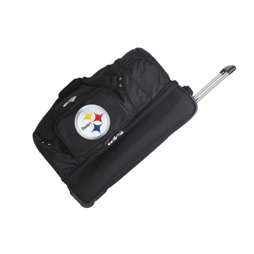 "Pittsburgh Steelers 27"" Drop Bottom Wheeled Duffle Bag"