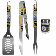 Pittsburgh Steelers 3 Piece Tailgater BBQ Set and Season Shaker