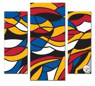 Pittsburgh Steelers 3 Piece Wall Art