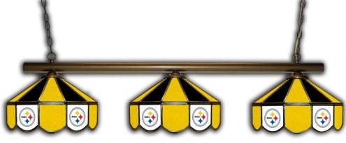 Pittsburgh Steelers 3 Shade Pool Table Light