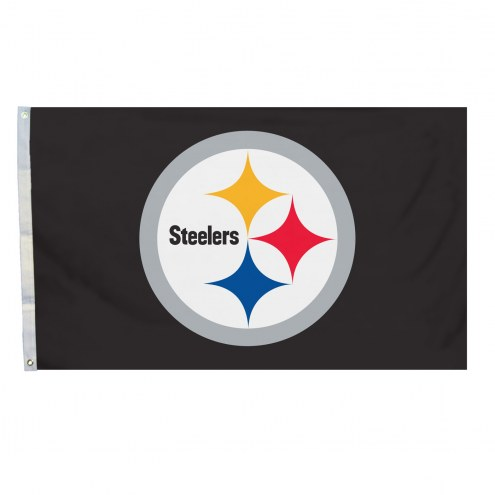 Pittsburgh Steelers 4' x 6' Logo Flag