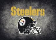 Pittsburgh Steelers 4' x 6' NFL Distressed Area Rug