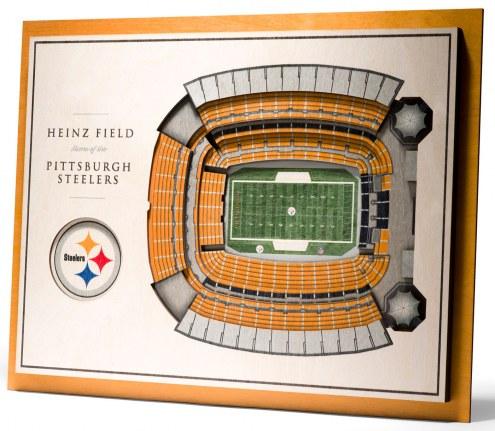 Pittsburgh Steelers 5-Layer StadiumViews 3D Wall Art