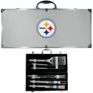Pittsburgh Steelers 8 Piece Stainless Steel BBQ Set w/Metal Case