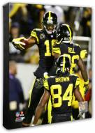 Pittsburgh Steelers Antonio Brown & Le'Veon Bell & Juju Smith-Schuster Action Photo