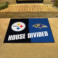 Pittsburgh Steelers/Baltimore Ravens House Divided Mat